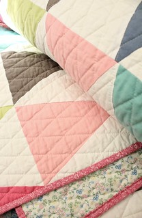 Vintage Sheet Triangle Quilt | by smithsoccasional