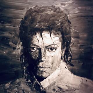 En mémoire de Michael Jackson, 1958-2009, Yan Pei-Ming