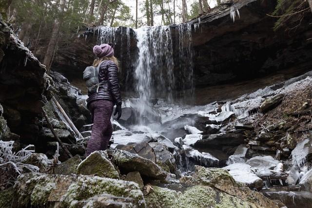 Animated GIF, Megan Atkinson, Jenny Branch Falls, Bridgestone Firestone Centennial Wilderness WMA, White County, Tennessee