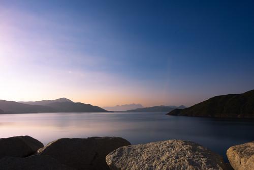 highislandreservoir travel hongkong saikung reservoir sunset landscape outofcity hiking travelblogger travelphotographer