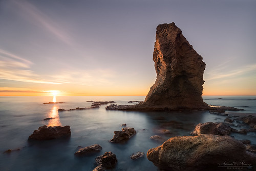 rock landscape seascape sea water sky clouds mediterranean sunrise dawn sun filters nikon d750 tamron longexposure nisi roca paisaje mar agua cielo nubes sol amanecer mediterráneo largaexposición filtros nd almería spain