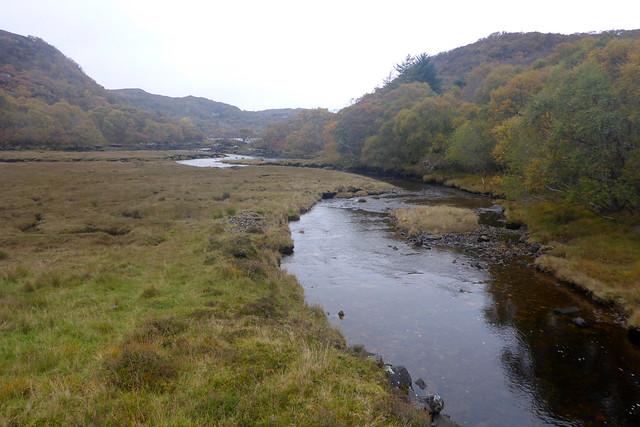 The river flowing into Loch Nedd