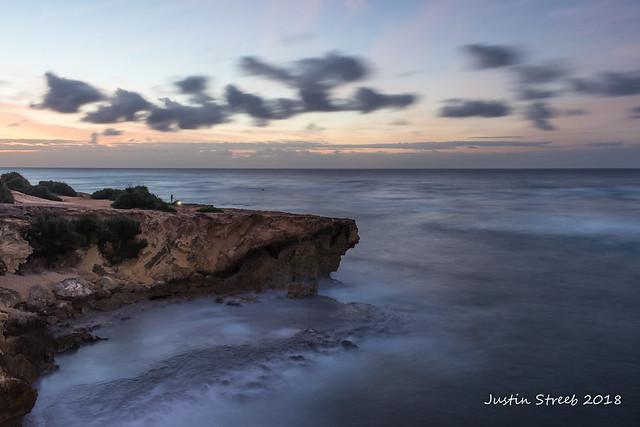 Shipwreck Beach Cliff Fishermen