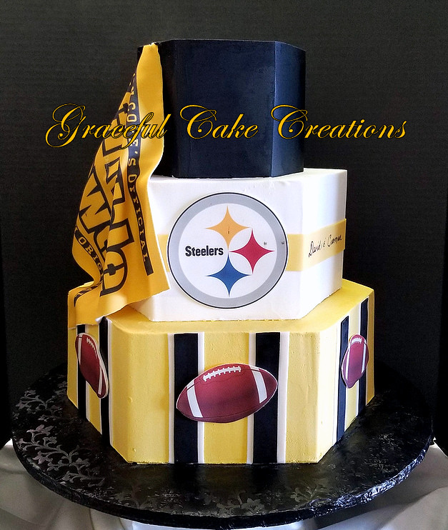 Fabulous Pittsburgh Steelers Themed Birthday Cake Grace Tari Flickr Funny Birthday Cards Online Aeocydamsfinfo