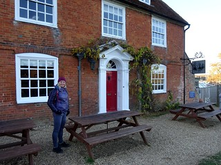 Edita outside the Master Builder's pub, Buckler's Hard | by markhorrell