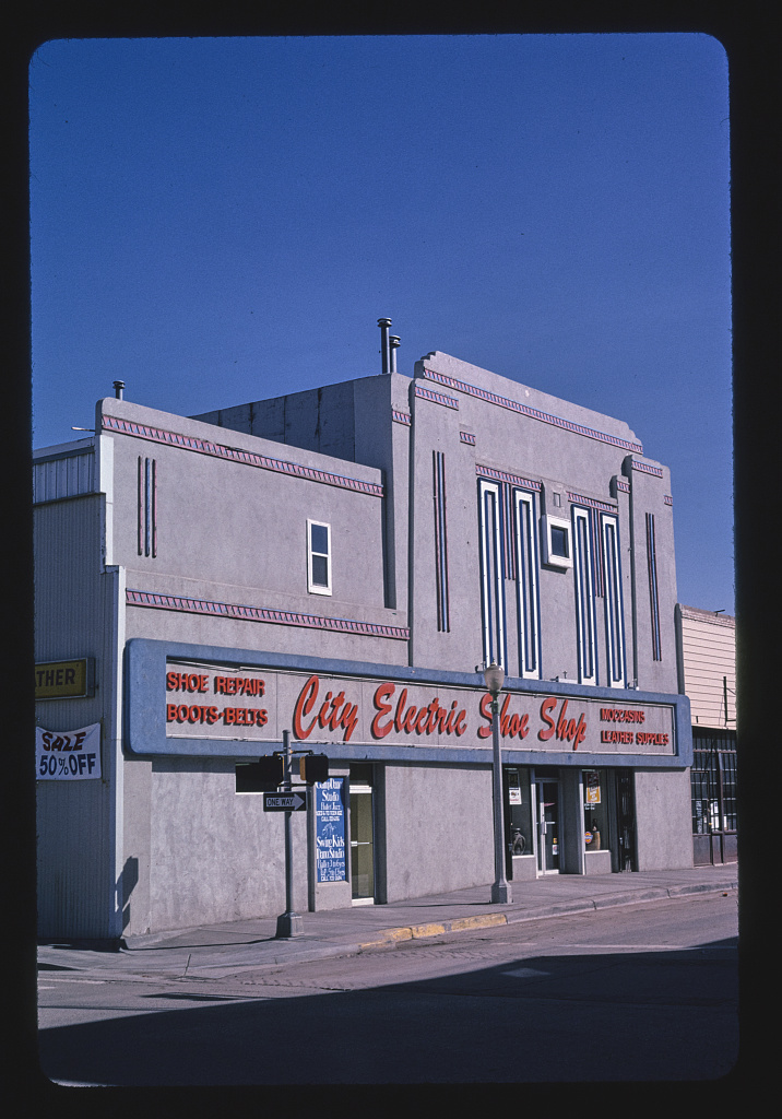 City Electric Shoe Shop (old Theater?), Cole Avenue, Gallup, New Mexico (LOC)