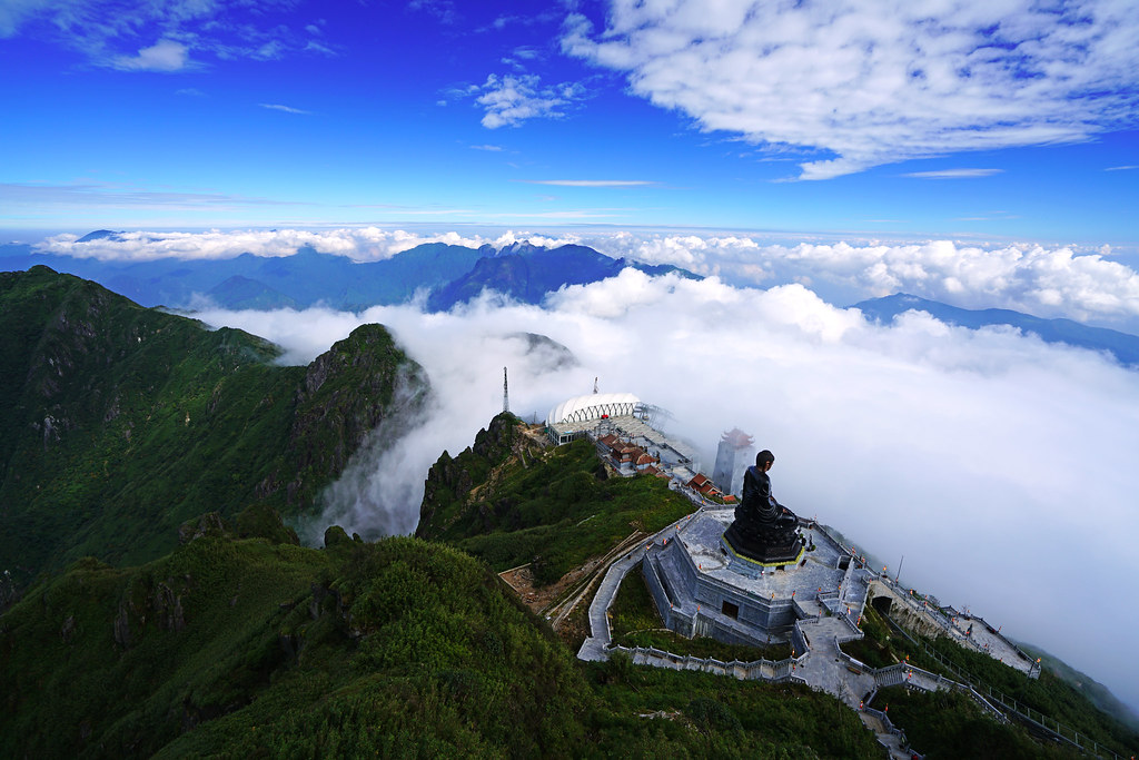 5 Travel Destinations That Take You Above the Clouds - Fansipan mountain, Vietnam