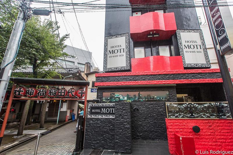 Love hotel al lado de un santuario en Shibuya
