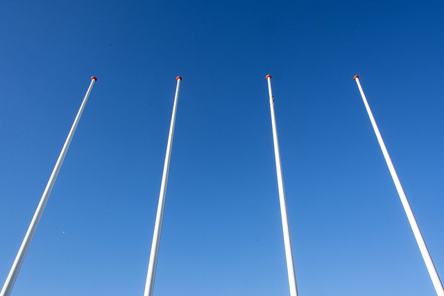 Four flagstaffs
