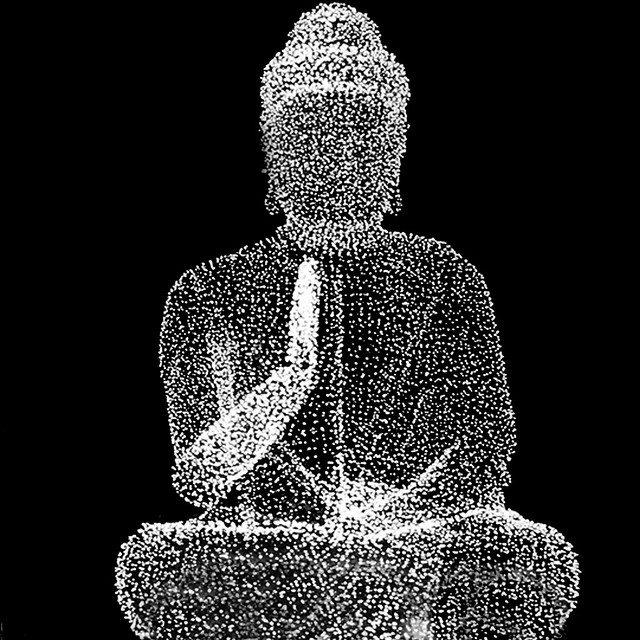 Less is more laser Buddha