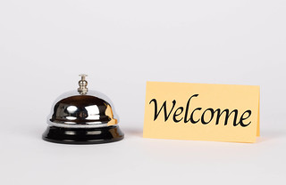 Hotel bell with welcome sign | by marcoverch