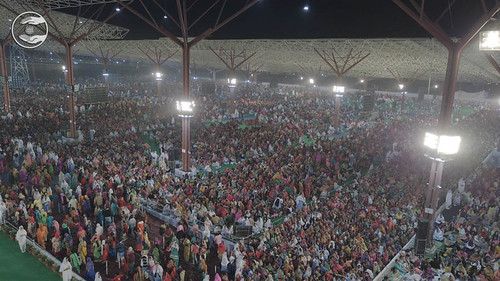 A wide view of congregation