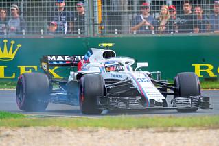 2018 Australian Grand Prix Sergei Sirotkin Williams locking brake into turn 3