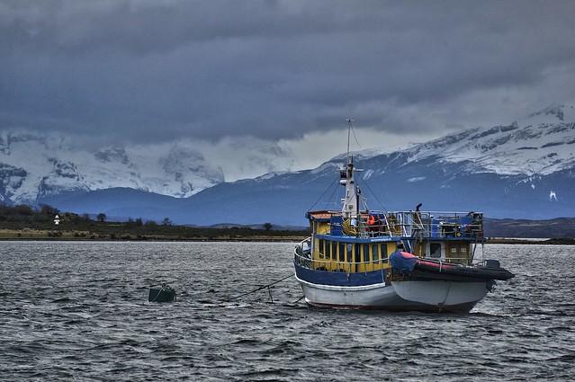 Puerto Natales. Vista desde el hotel.