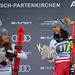 GARMISCH-PARTENKIRCHEN,GERMANY,27.JAN.19 - ALPINE SKIING - FIS World Cup, downhill, ladies. Image shows the rejoicing of Sofia Goggia (ITA) and Stephanie Venier (AUT). Photo: GEPA pictures/ Thomas Bachun, foto: GEPA pictures/ Thomas Bachun