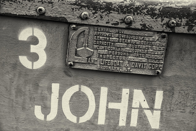 Lifeboat Detail--Builder's Plate