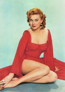 Rhonda Fleming | Italian postcard by Rotalcolor. American fi⦠| Flickr