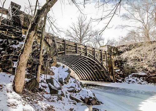 cocanal tonolowaycreekaqueduct winterice snow hancockmd