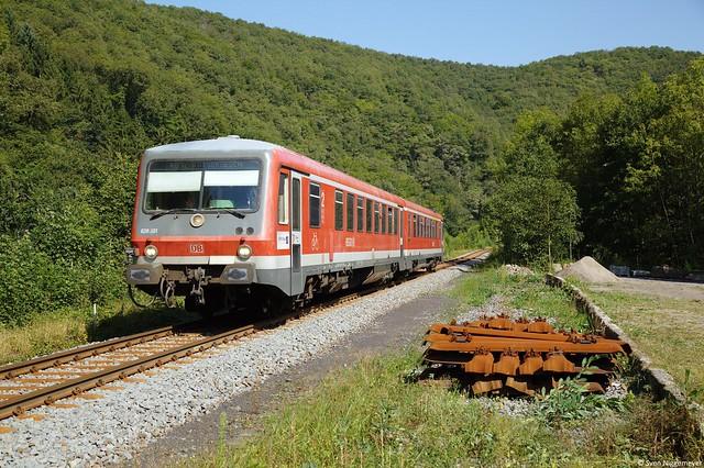 628 301 auf der RB92 von Andernach nach Kaisersesch in Monreal am 4.09.12
