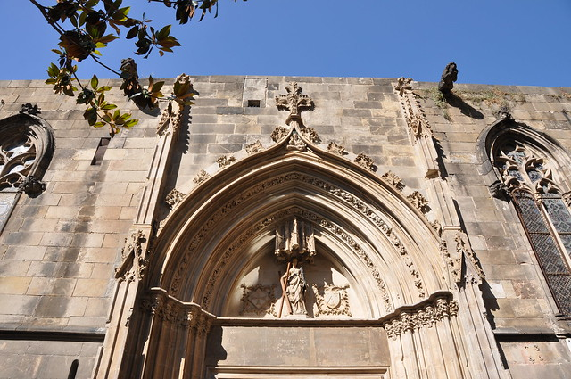 Barcelona. Cathedral church of the Holy Cross and Saint Eulalia. Saint Eulalia door (circa 1432)