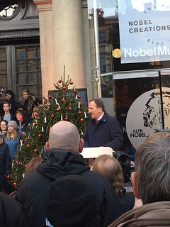 Stefan Löfven holding his Winter Speech