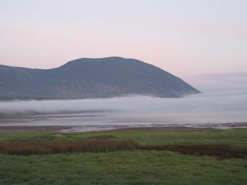 fog mist cloud mountain nature bay shuswap lake salmon arm bc british columbia canada