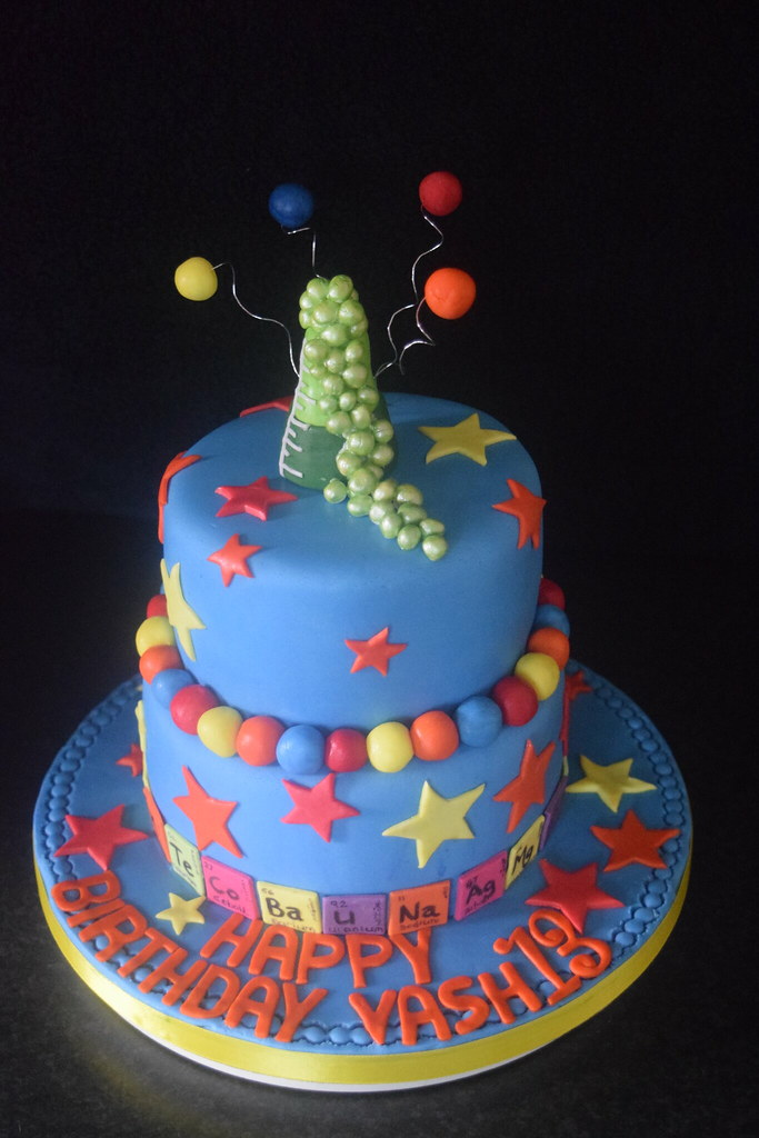 Tremendous Science Themed 13Th Birthday Cake Elaine Charles Flickr Funny Birthday Cards Online Elaedamsfinfo