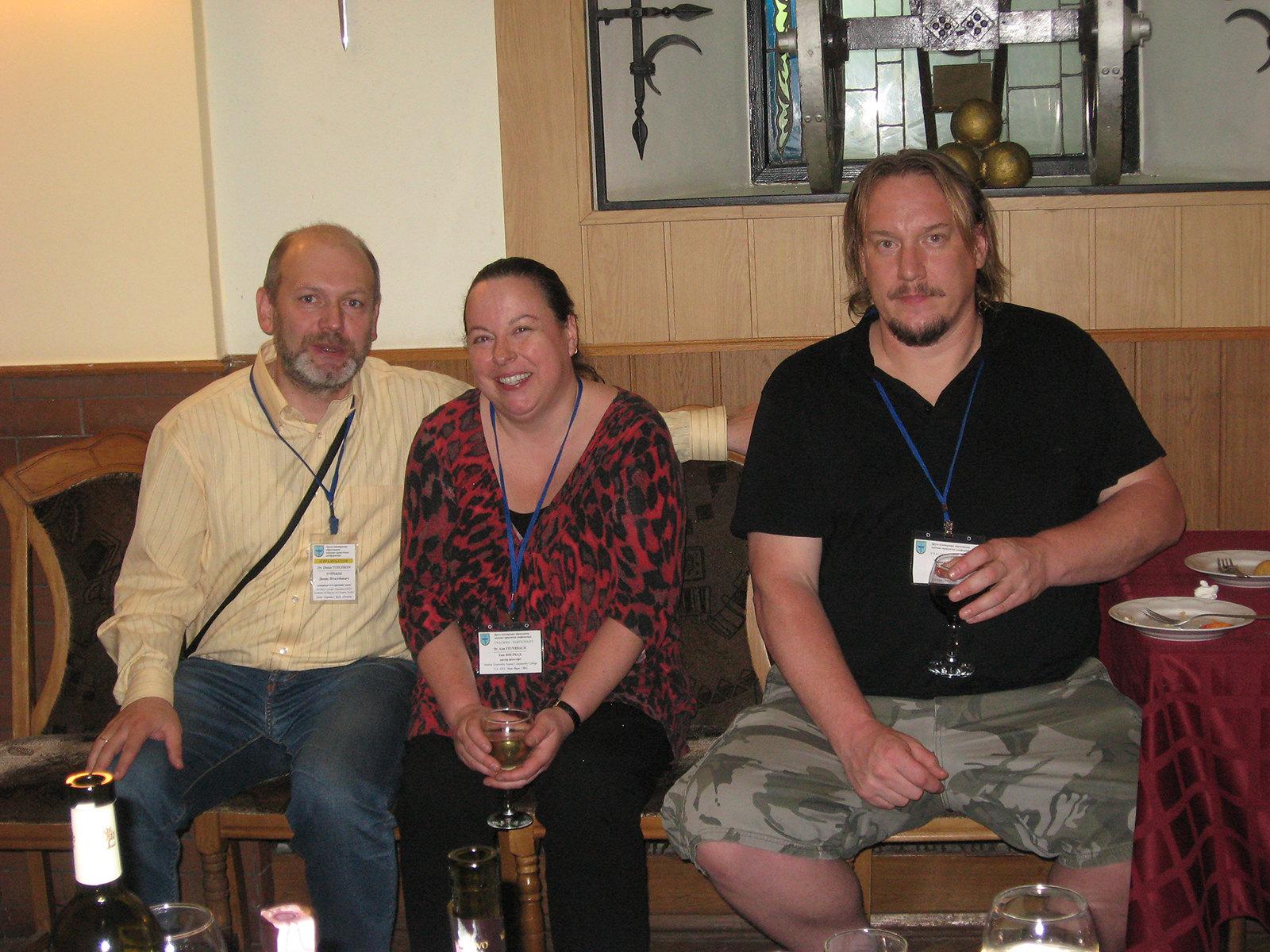 Зліва направо: Денис Тоїчкін, Енн Феєрбах, Томас Хенлі.