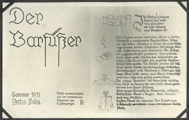 A2-202 Der Barfüßer, Sommer 1931