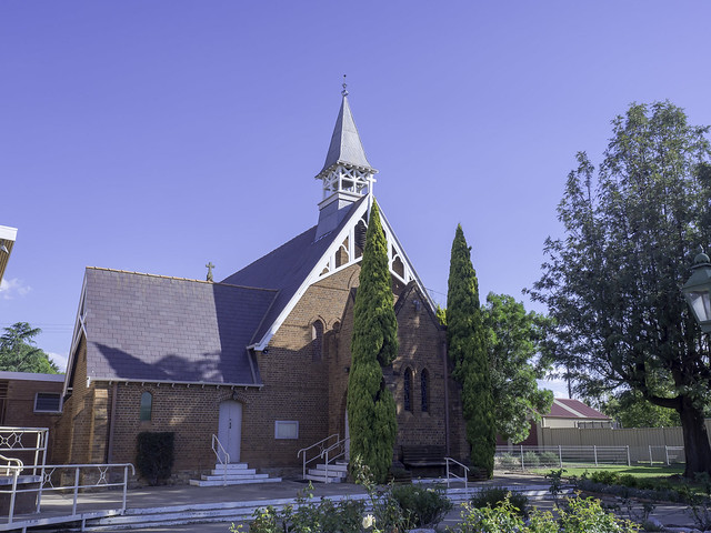 St Augustine's Anglican Church, Inverell NSW, built 1878 - see below