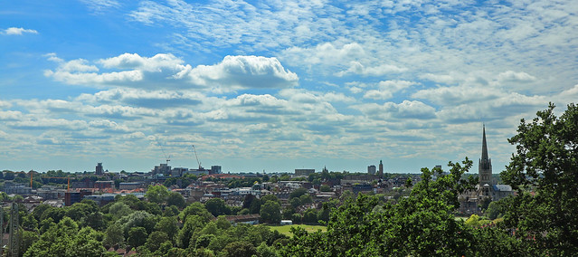 Norwich panorama from Kett's Heights