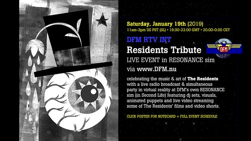 Tribute to THE RESIDENTS in Resonance - Jan. 19th, 2019