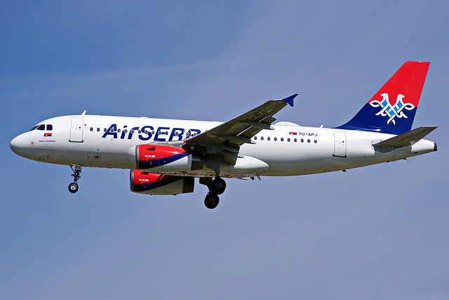 YU-APJ   A319-132 Air Serbia  Heathrow 01-05-2016