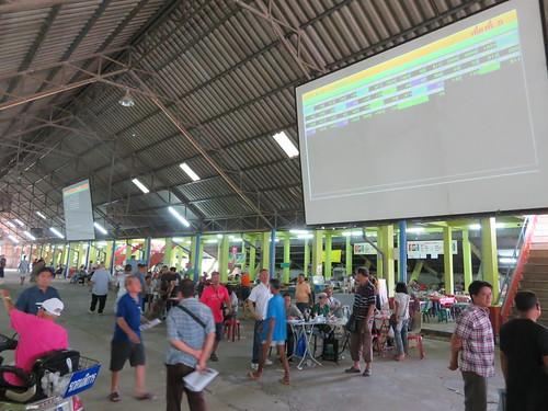 チェンマイ競馬場のオッズ表示