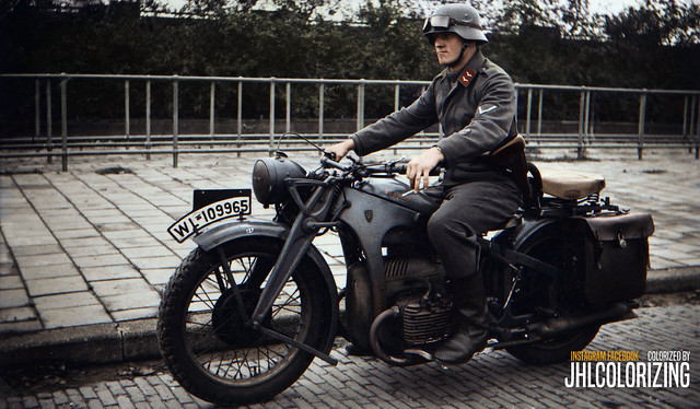 Luftwaffe Motorcycle Messenger