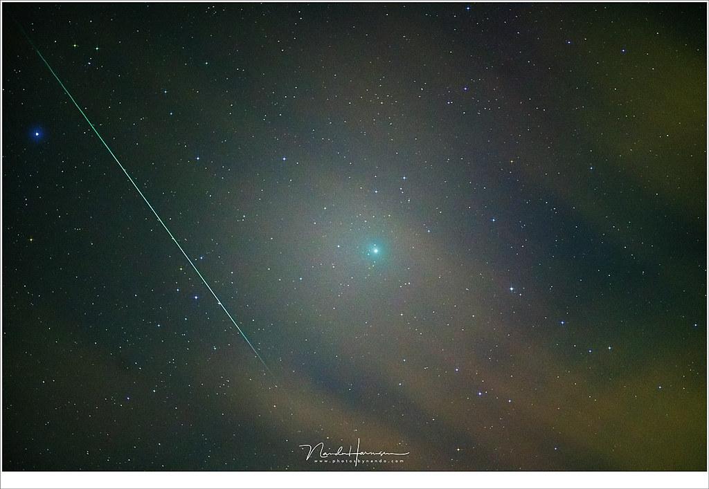 Komeet 46P/Wirtanen en een Geminide meteoor