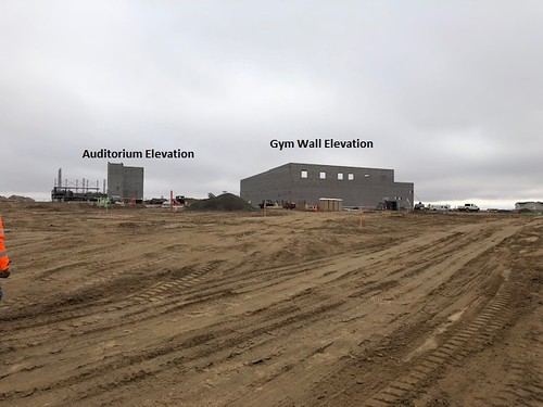 Gym wall and auditorium elevation