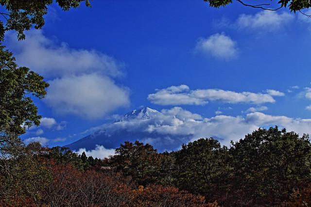 Mt.Fuji winter from autumn