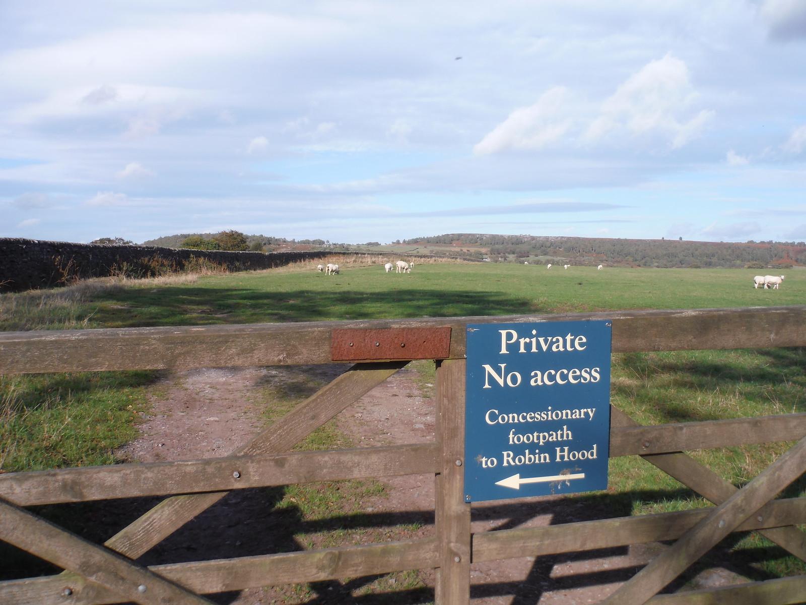 Sign on Gate, Dobb Edge, Chatsworth Estate SWC Walk 322 - Grindleford Circular (via Chatsworth House)