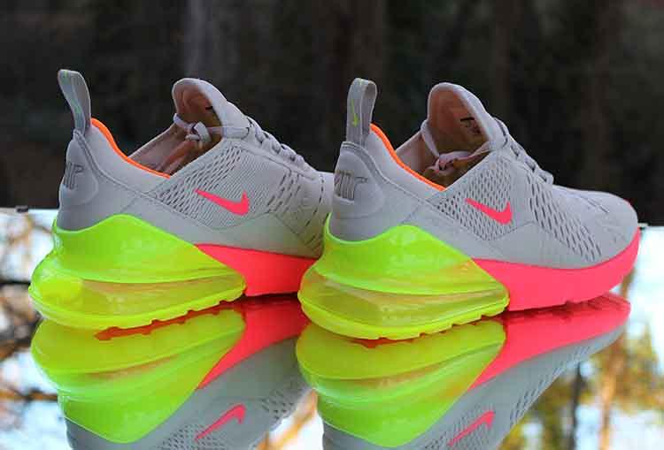 cheaper dbf4f ad40c Nike Air Max 270 Neon Women's Running Shoes 719916-013 Siz ...