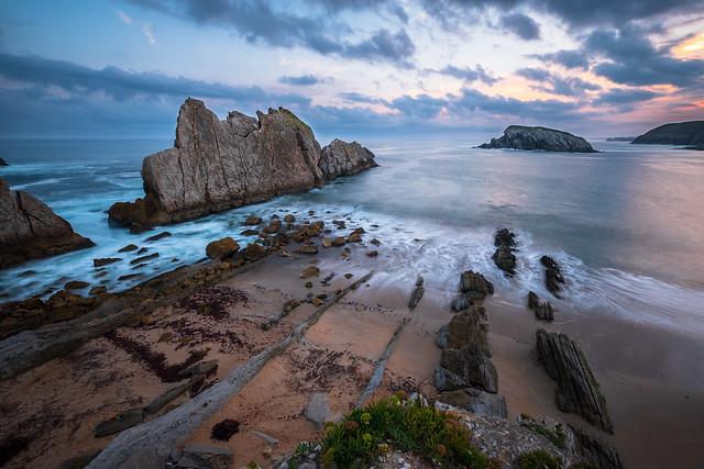 Playa de la Arnia, Spain
