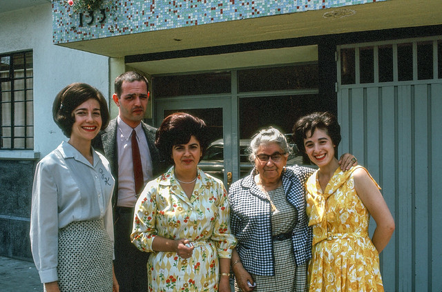 Zeeva and Gary, Grinberg Relatives, and Sandra Goldberg, Mexico City, 1965