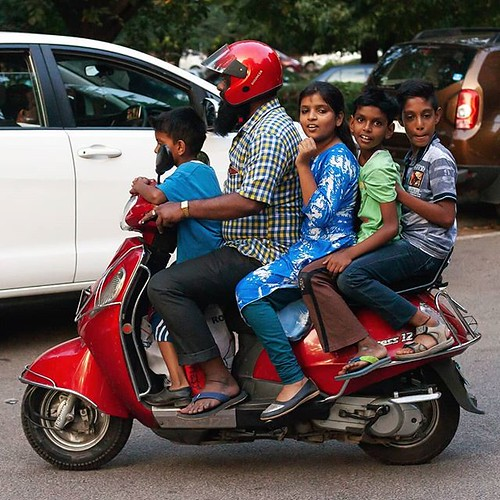 Multiple riding, Indian style #india #bangalore #scooter #over #riders #multiple #many #kids | by Scalino