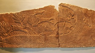 Netting deer Assyrian, about 645-635 BC From Nineveh, North Palace, Iraq