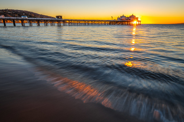 Malibu Pier Nikon D850! Malibu Sunrise Fine Art California Coast Beach Landscape Seascape Photography! Nikon D850 & AF-S NIKKOR 14-24mm F2.8G ED from Nikon! High Res 4k 8K Photography! Elliot McGucken Fine Art Pacific Ocean Sunset!