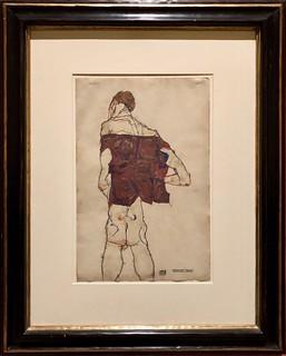 Homme debout, 1913, Egon Schiele