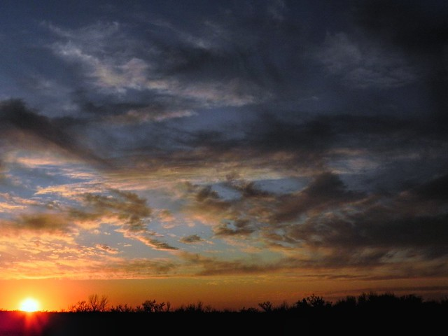 Rural Oklahoma Sunset
