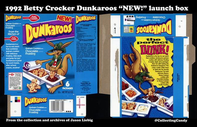 General Mills - Betty Crocker - Dunkaroos - Chocolate Frosting - New - 6oz snack treat box - 1992