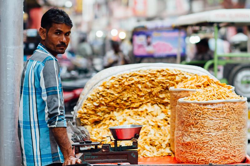 Potato Chips Street Vendor, Varanasi India