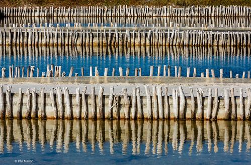Salt extraction ponds near Celestun, Mexico